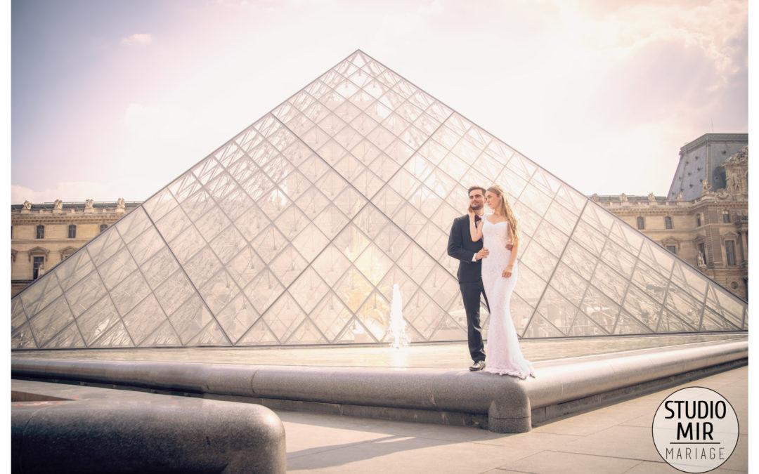 Séance engagement au Louvre à Paris