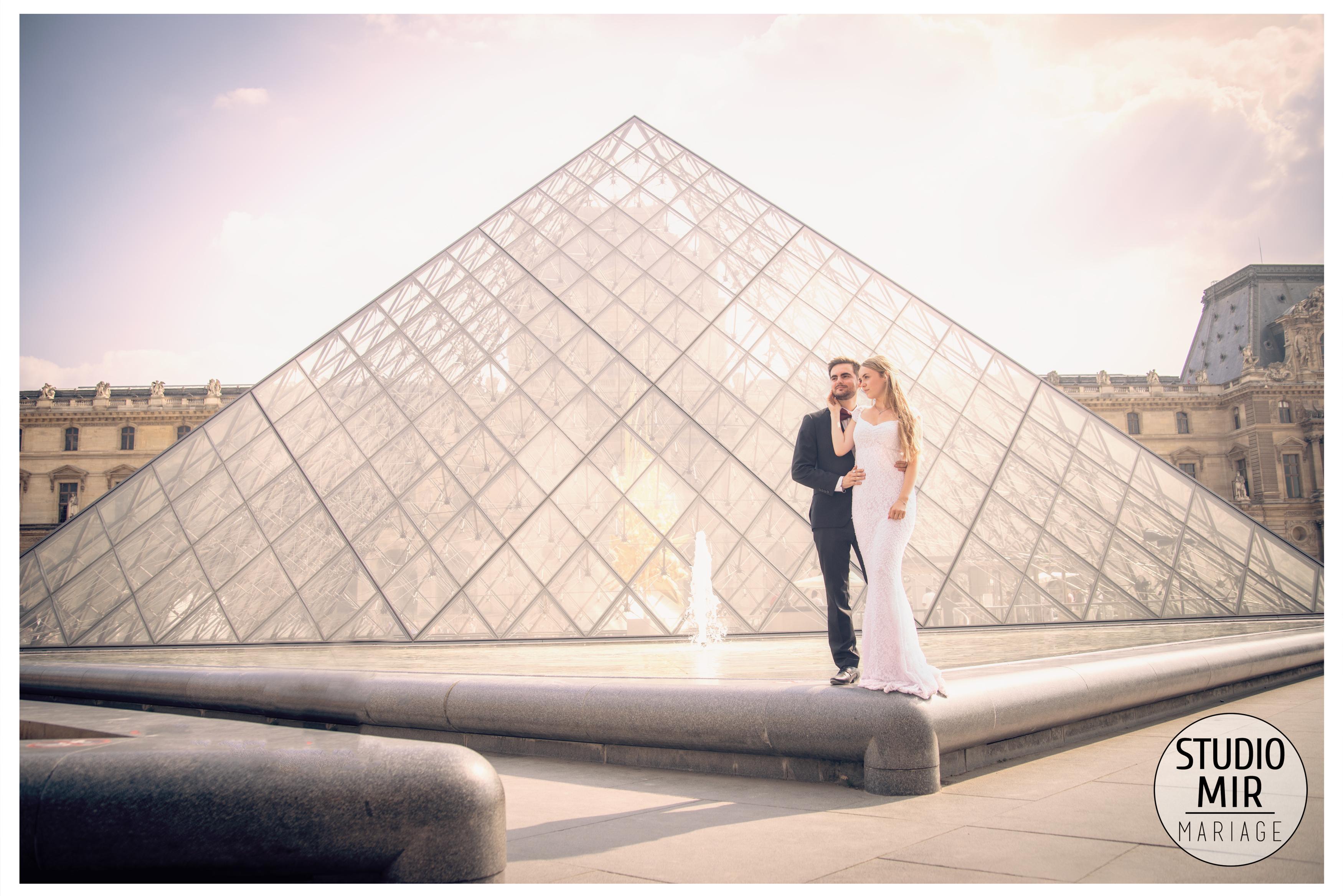 Séance engagement au Louvres à Paris
