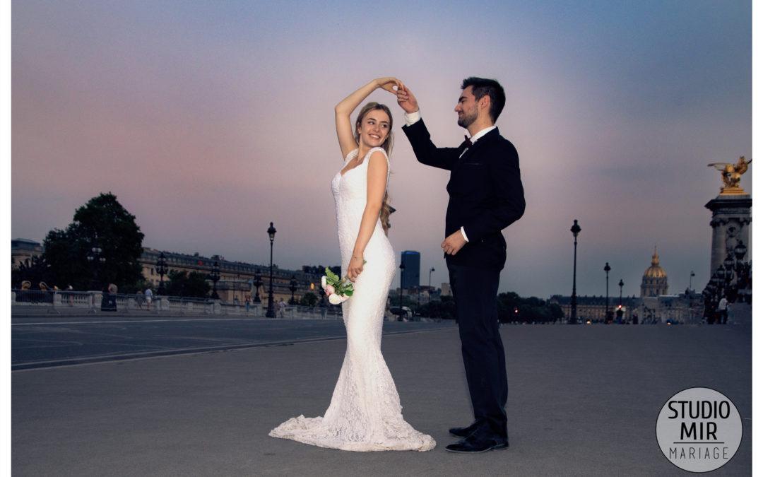 Séance photos engagement à Paris