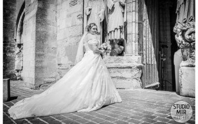 Photographe de mariage à la basilique Longpont-sur-orge