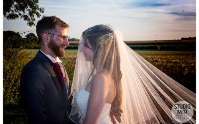 Photographe de mariage: photos de couple au coucher de soleil en Seine-et-Marne