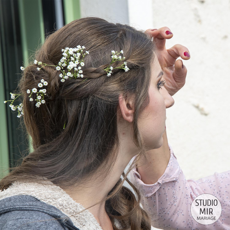 Préparatifs de la mariée dans le Val-De-Marne