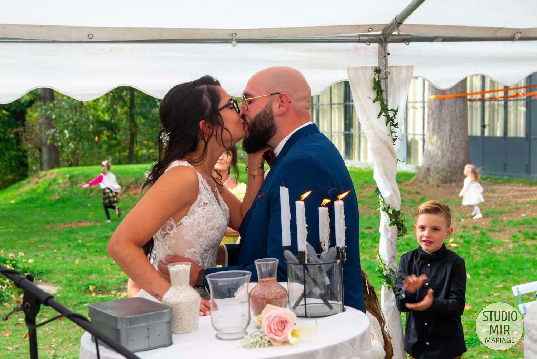 Photographe de mariage : cérémonie laïque au Château du Bois du Rocher